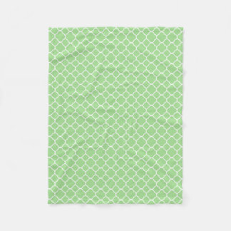 Cobertor De Velo Teste padrão geométrico verde de Quatrefoil