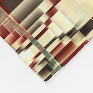 Cobertor De Velo Teste padrão geométrico vermelho de Brown do verde