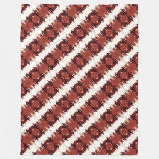 Cobertor De Velo Teste padrão geométrico vermelho marrom e branco