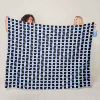 Cobertor De Velo Teste padrão grande do cetim de Houndstooth do