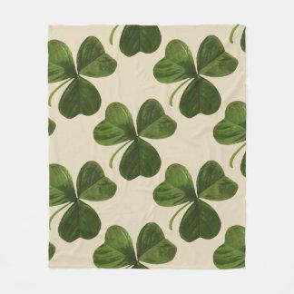 Cobertor De Velo Teste padrão irlandês do trevo do Dia de São