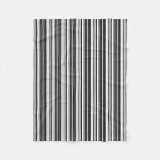 Cobertor De Velo Teste padrão listrado cinzento branco preto