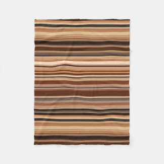 Cobertor De Velo Teste padrão listrado de Brown
