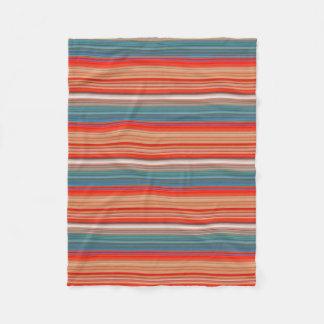 Cobertor De Velo Teste padrão listrado multicolorido