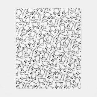 Cobertor De Velo Teste padrão louco do Doodle do sonho dos