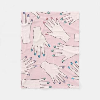 Cobertor De Velo Teste padrão Manicured do Pastel do rosa do