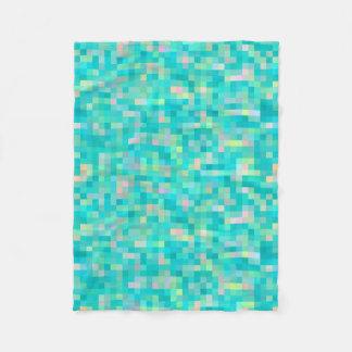 Cobertor De Velo Teste padrão multicolorido da arte do pixel
