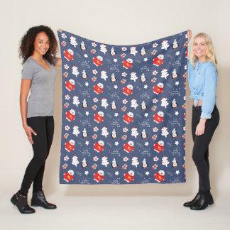 Cobertor De Velo Teste padrão na moda dos flocos de neve da cerceta