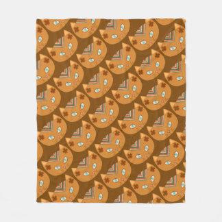 Cobertor De Velo Teste padrão ocidental do gato