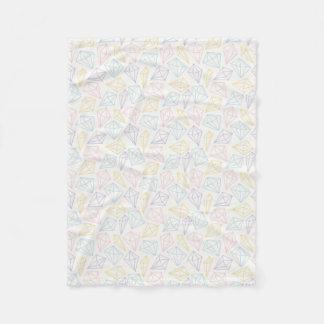 Cobertor De Velo Teste padrão Pastel claro dos diamantes