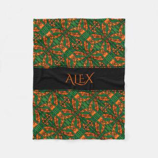 Cobertor De Velo Teste padrão personalizado do geco dos lagartos
