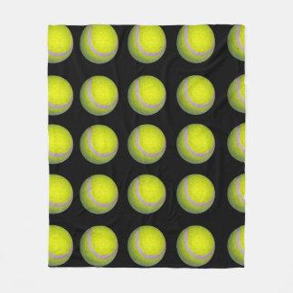 Cobertor De Velo Teste padrão preto amarelo da bola de tênis,