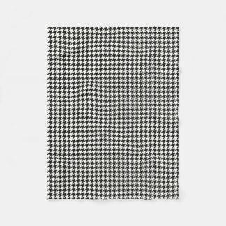Cobertor De Velo Teste padrão preto/branco do houndsdogtooth