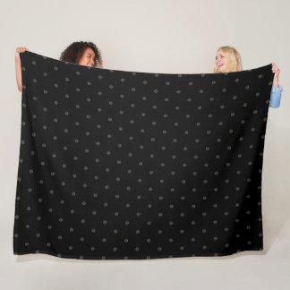 Cobertor De Velo Teste padrão preto da seda de Armani dos diamantes