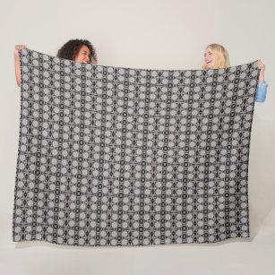 Cobertor De Velo Teste padrão preto do cetim do diamante de Armani