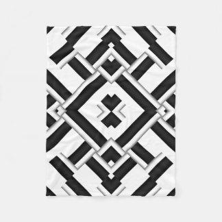 Cobertor De Velo Teste padrão preto e branco