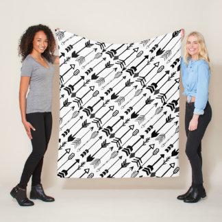 Cobertor De Velo Teste padrão preto e branco da seta do hipster