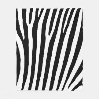 Cobertor De Velo Teste padrão preto e branco do impressão da zebra