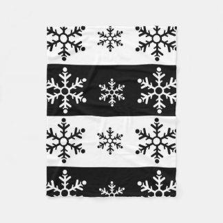 Cobertor De Velo Teste padrão preto e branco minimalista do floco
