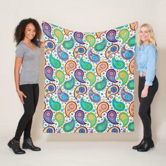 Cobertor De Velo Teste padrão retro colorido de Paisley