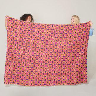 Cobertor De Velo Teste padrão retro Rockabilly do cetim de choque