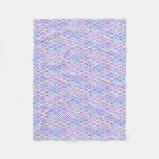 Cobertor De Velo Teste padrão roxo do Pastel da sereia do arco-íris