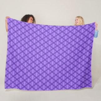 Cobertor De Velo Teste padrão roxo geométrico do luxuoso dos