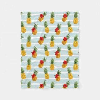 Cobertor De Velo Teste padrão sem emenda do abacaxi havaiano do