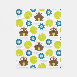 Cobertor De Velo Teste padrão sem emenda do sapo & do Nenuphar