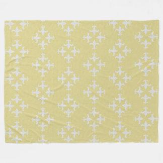 Cobertor De Velo Teste padrão Textured da flor de lis