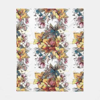 Cobertor De Velo Teste padrão tirado realístico do buquê floral
