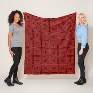 Cobertor De Velo Teste padrão tribal vermelho e preto