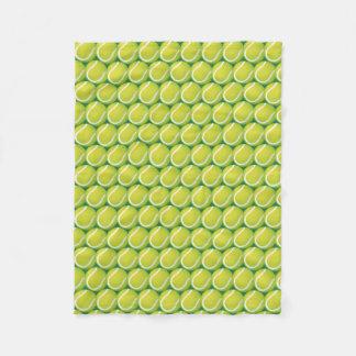 Cobertor De Velo Teste padrão verde das bolas de tênis