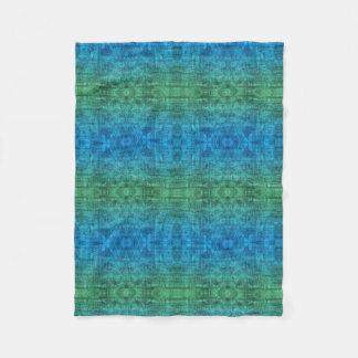 Cobertor De Velo Teste padrão verde e azul da textura do inclinação