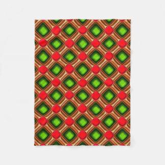Cobertor De Velo Teste padrão vermelho da gema