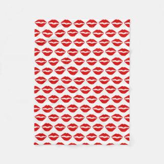 Cobertor De Velo Teste padrão vermelho do batom