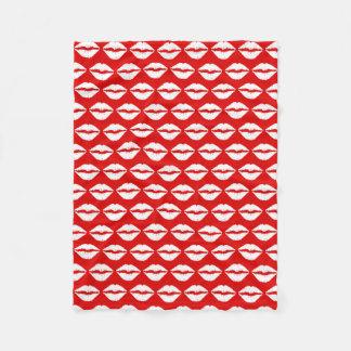 Cobertor De Velo Teste padrão vermelho e branco do batom