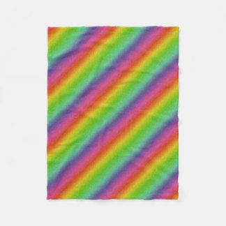 Cobertor De Velo textura metálica do brilho do arco-íris