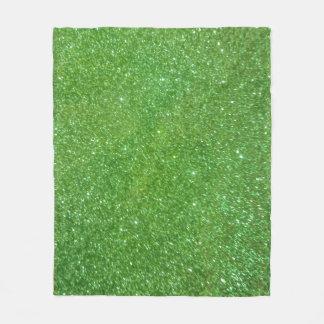 Cobertor De Velo Textura verde do abstrato do brilho