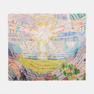 Cobertor De Velo The Sun por Edvard Munch