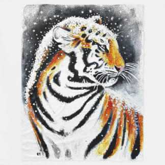 Cobertor De Velo Tigre na neve noir