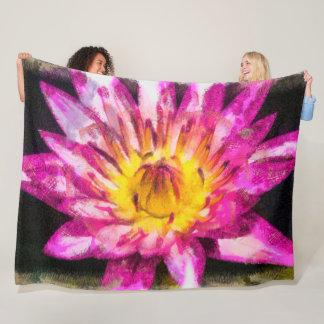 Cobertor De Velo Tinta roxa da aguarela do lírio de água