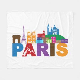 Cobertor De Velo Tipografia colorida de Paris, France  