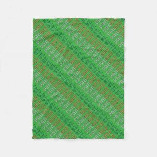 Cobertor De Velo Tipografia da almofada do St. de Ireland do
