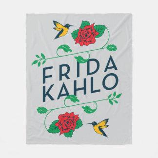 Cobertor De Velo Tipografia floral de Frida Kahlo |