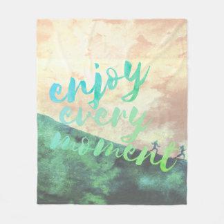 Cobertor De Velo Tipografia Running da corrida verde da aguarela