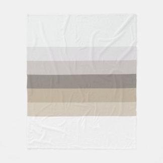 Cobertor De Velo Tons de listras de Brown