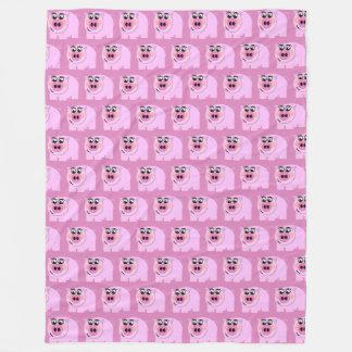 Cobertor De Velo TP leitão cor-de-rosa