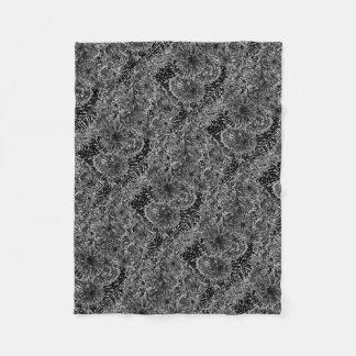 Cobertor De Velo travesseiro projetado do preto n branco bonito