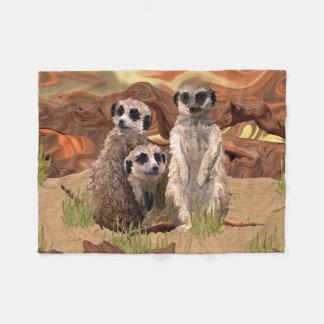Cobertor De Velo Três Meerly Meerkats